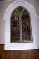 Stained glass, north window